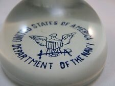 1941 Glass Paperweight United States of America Department of the Navy Wwii