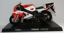 Maisto Metal 1/18 Motocicleta Yamaha YZF R7 + Soporte