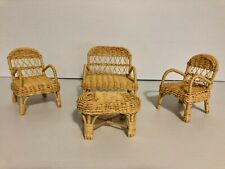 Vintage Wicker / Ratan Doll Furniture