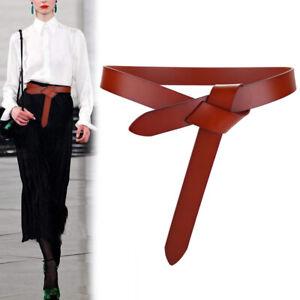 Fashion Leather Waist Belt Wrap Around Self Tie Cinch Boho Waistband UK
