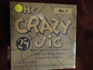 THE CRAZY JIG -very old vintage jigsaw puzzle - Shrink wrapped