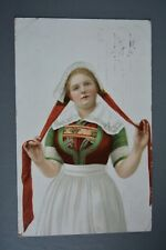 R&L Postcard: Woman In Traditional Dress Fashion Clothes Bergan Norway