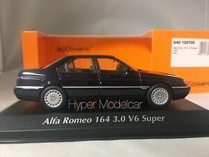 MINICHAMPS 1/43 ALFA ROMEO 164 3.0 V6 SUPER 1992 BLUE ART. 940120700