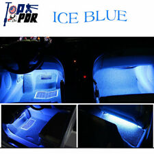 4pc Car SUV Charger Light Accessories Lamp Lighter Floor Decorative Ice Blue Set