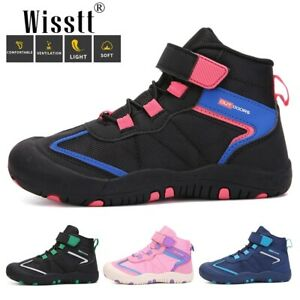 Boys Hiking Boots Kids Hiking Shoes Girls Outdoor Durable Comfortable Footwear