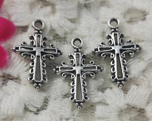 100 pcs Antique silver cross charms pendant 20x13mm H-5103