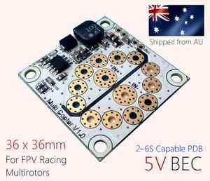 (2PCS) Presto Pegasus Mini PDB (2~6S capable with Built-in 5V BEC) for FPV quad