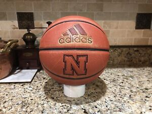 "Official Adidas Pro NCAA Nebraska Game Ball Spalding Basketball Men's 29.5"""