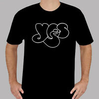 New YES Band Logo Rock Music Legend Men's Black T-Shirt Size S to 3XL