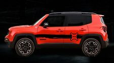 JEEP RENEGADE PAINT SPLASH EFFECT SIDE STRIPES DECALS STICKERS OPTION 2