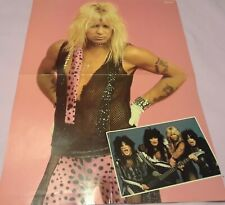 Motley Crue 4 Page Poster Clipping From A Magazine 80'S Theatre Of Pain Vince