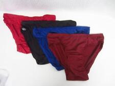 Lot of 4 Mens Jockey Life Stretch Bikini Underwear Red/Blue/Black/Burg Sz M NEW