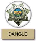 RENO 911 DANGLE NAME BADGE & Lieutenant 3' BUTTON HALLOWEEN COSTUME PIN BACK