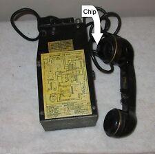 VINTAGE WW2 /KOREAN U.S.ARMY MILITARY FIELD PHONE RADIO MODEL EE-8-B  39 SPT