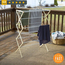 Wooden Clothes Drying Stand Folding Rack Foldable Indoor Laundry Dryer Hanger-US