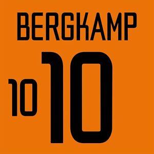 Bergkamp Netherlands Home football shirt 2002 - 2004 FLEX NAMESET NAME SET PRINT