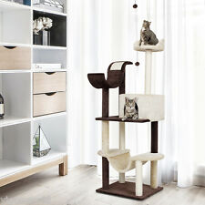 """60"""" Cat Tree Tower Condo House Scratching Post Bed Pet Kitty Play House Gym Toy"""
