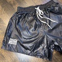 NOS Vtg 70s 80s BLACK Soccer Shorts AUGUSTA Glanz Nylon wet look NEW Mens LARGE