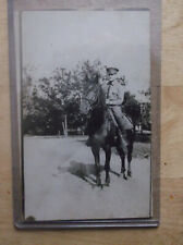 World War 1 Era Postcard US Army Cavalry Soldier Mounted on Horse RPPC