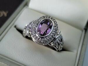 John Hardy *RARE* Batu Mata Diamond and Purple Amethyst Ring - MINT! $950