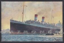PIROSCAFO ROMA 05 NAVE MARINA NAVIGAZIONE SHIP Cartolina Ill. P. KLODIC
