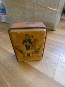 Money Box Tinplate foreign made c1930's 5 shilling
