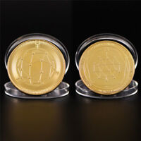 Gold Quantum Coin Commemorative Round Collectors Coin Bit Coin Collectible  AB