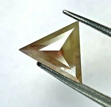 Real Natural Diamond 0.58TCW Reddish Yellow Sparkling Triangle Full Cut for Gift