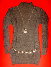 UPPER EAST KNIT LONGPULLOVER MADE IN ITALY ANGORA STRICK L 40 42 NEUW.!! TOP!!
