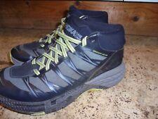 hoka one speedgoat 4 mid wp black grey running trail trainers size 8 waterproof