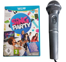 Sing Party + Official USB Microphone - Nintendo Wii U - Fast P&P - Singing Music