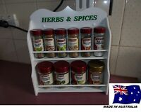 Spice Rack  10  to  16  jar HERB & SPICE  IN White  New Design ( made in OZ )