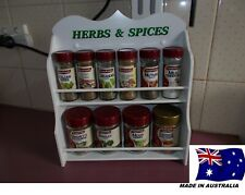 Spice Rack 10 to 16 jar HERB & SPICE IN White New Design ( made in OZ )