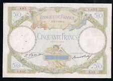 FRANCE - 50 FRANCS L.O MERSON Fayette n° 15.3 du 29-6-1929.A en TB   V.4327 895