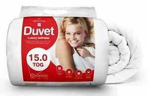 Luxury Duvet Quilt Bed 15 Tog Hotel Quality Poly Cotton Single Double King Size