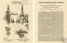 WESTINGHOUSE AIR BRAKE- 1876 US PATENT Art Print READY TO FRAME!!!! Train