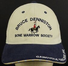 Bruce Denniston Bone Marrow Society Baseball Hat Cap and Cloth Strap