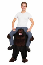 Gorilla Piggy Back Costum Fancy Dress Costume Outfit Male Mens Adult One Size