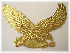 Sticker relief 3D autocollant  Aigle reflet or moto custom motard auto eagle