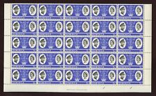 DOMINICA 1966 ROYAL VISIT 5c...MINT SHEET of 50 stamps