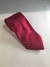 Donald J Trump Signature Collection Mens Red Square Pattern 100% Silk Tie