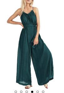Tigerlily Women's Kynthia Emerald Green Long Jumpsuit Size 8 RRP $199