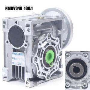 Worm Gear Gearbox NMRV040-100-63B14 Speed Reducer 100:1 for Stepper Motor USA