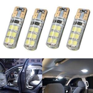 4pcs 12V W5W T10 12smd led Canbus White Bulb Parking Light for all cars 6000K