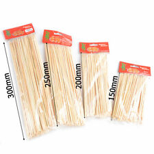 Sticks Skewers For BBQ Bamboo Wooden Kebab Meat Fruit Fountain Party Supplies