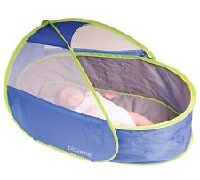 New Travel Bed Sleep Easy Pod Playette Portable Mesh Panels Carry Bag Washable