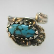 Sterling Silver Southwest Spoon Turquoise Expandable Ring
