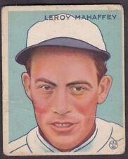 1933 GOUDEY LEROY MAHAFFEY #196 - PHILADELPHIA ATHLETICS