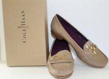 Cole Haan Marlee Infinity Moc II Womens Beige Patent Leather Loafers Size 9 NWB
