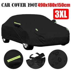 Car Cover Sedan Outdoor Scratch UV Rain Snow Dust Resistant Waterproof 3XL Size